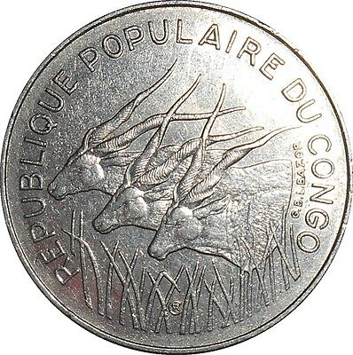 Central African States BEAC Republic of Congo 100 Francs 1983 KM#2 (4347)