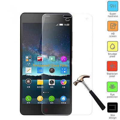 9H Real Explosion-proof Tempered Glass Case Screen Protector Film Shield For ZTE