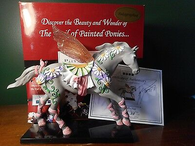 TRAIL OF Painted Ponies TWILIGHT FAIRY PONY COA #38/75 Rare SIGNED 1E/0229