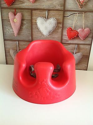 RED Bumbo Baby Floor Seat / Play Chair With Safety Harness Straps ❤️