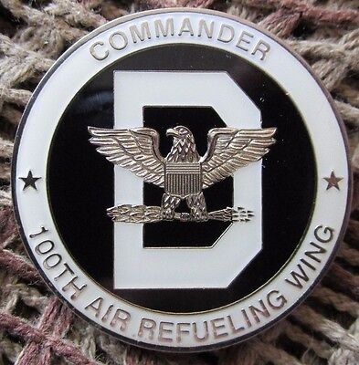 Usaf 100Th Air Refuelling Wing Raf Mildenhall Commander Challenge Coin. #13.
