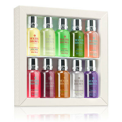 Molton Brown Signature Scents Mini Collection Body Wash / Shower Gel 10x30ml NEW