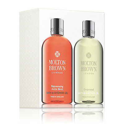 Molton Brown Rejuvenating Arctic Birch & Grapeseed Body Wash Set 2 x 300ml - NEW