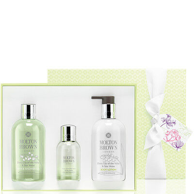 Molton Brown Dewy Lily Of The Valley & Star Anise Fragrance Gift Set-RRP £72.00