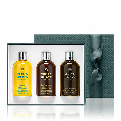 Molton Brown Shower Gel Gift Set For Him (3 x 300ml) Black Peppercorn / Tobacco