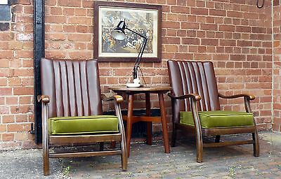 A Pair of Cracking Looking 1930s Fireside Armchairs