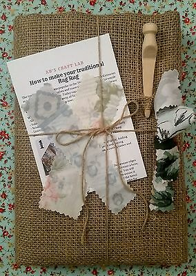 Traditional Hessian Rag Rug Kit (Large)