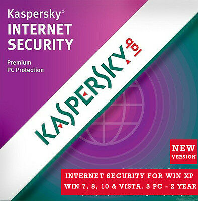 Latest Kaspersky Internet Security - 3 PC 2 Year For All Window PC - License Key