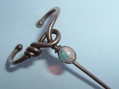 Antique Victorian 9ct Gold Murrle Bennett Opal Stick Pin