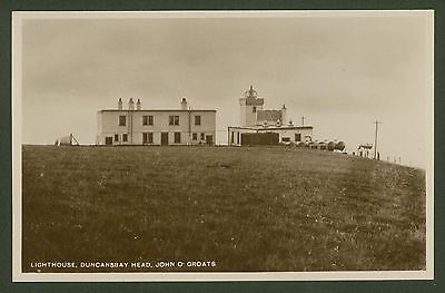 Caithness. Lighthouse, Duncansbay Head, John O'Groats - Real Photo Postcard