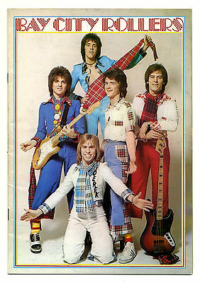 BAY CITY ROLLERS Rare UK Concert programme 1975