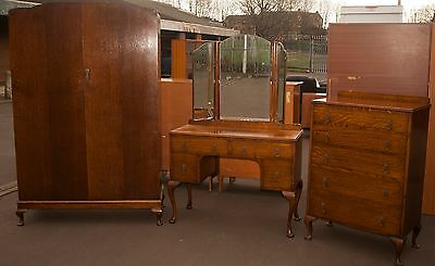 Fantastic 3 Piece Bedroom Set. Wardrobe, Dressing Table & Chest of Drawers. Anti