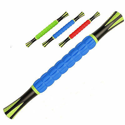 18'' Athletic Roller Massage Stick Trigger Point Travel Body Muscle Movement Gym
