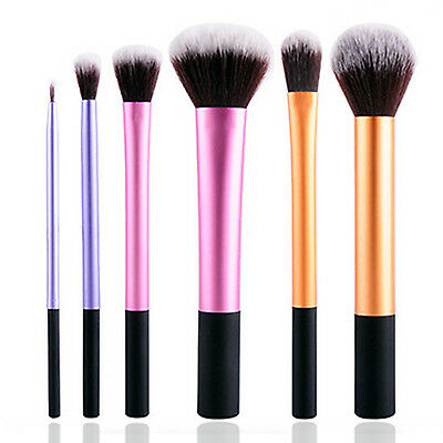 WELL 6PCS Eyeshadow Brushes Set Powder Foundation Lip Brush Makeup Cosmetic Tool