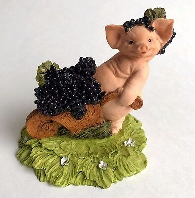 Little Pig piglet Sculpture Figurine Statue Barnyard Animal miniature ITALY