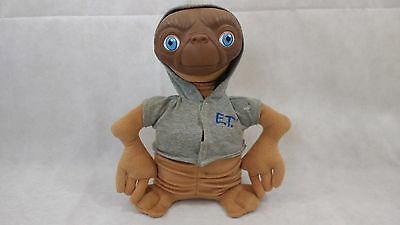 "12"" E. T. Vintage Plush Rubber Face Toy Grey Hoodie Extra Terrestrial Free Post"