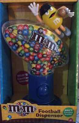 m&m football dispenser RARE collectible.
