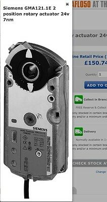 Siemens GMA121.1E 24v 7NM Rotary Actuator 2 Position Free Postage
