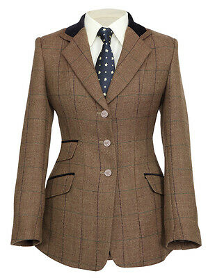 * Special Offer!! Ladies Brown Tweed Shires Huntingdon Show Jacket - All Sizes!