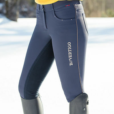 Horze B.vertigo Navy Full Seat Ladies Horse Riding Breeches - Sale