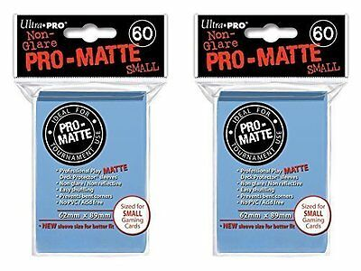 120 Ultra Pro Light Blue SMALL PRO-MATTE Deck Protectors Sleeves Colors Yugioh
