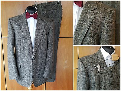 Magee Wool Tweed Check Twill Vintage 1993 Mens Green Suit Jacket Trousers L