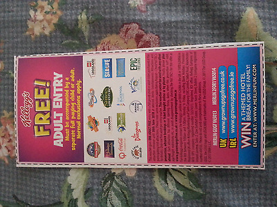Kelloggs Free Adult Entry 2 For 1 Vouchers  FAST POST