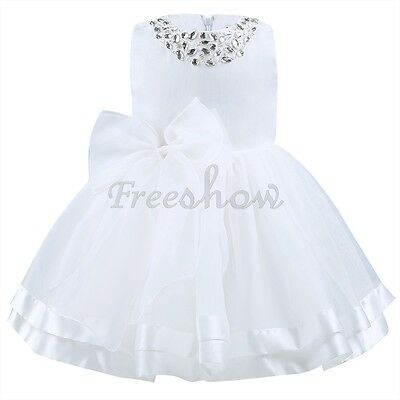 Infant Toddler Baby Girls Christening Wedding Bridesmaid Party Formal Dresses