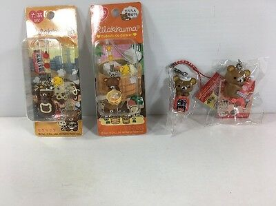 Lot Of 4 Rilakuma Phone Straps/charms/keychain (From Japan/us Seller) New!
