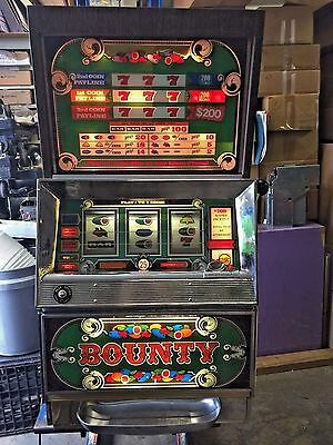 "BALLY SLOT MACHINE - ""BOUNTY""  - 3 LINE - 25 cent"
