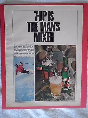 #2 March 1966 7-UP Vintage magazine print ad advertisement Seven Up