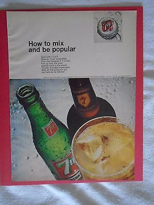 #3 1960's 7-UP Vintage magazine print ad advertisement Seven Up