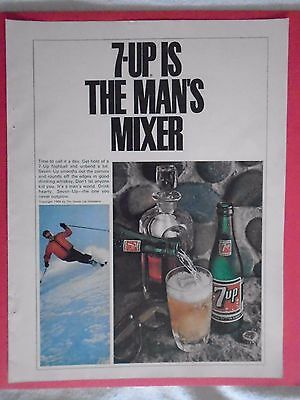 #7 1960's 7-UP Vintage magazine print ad advertisement Seven Up