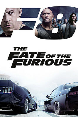 FAST & FURIOUS 8 Theatrical Poster (A3: 28 x 42 cm)