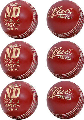New County Cricket Ball Grade A Junior Mens Official Ball Pack Of 6 Weight 4/34