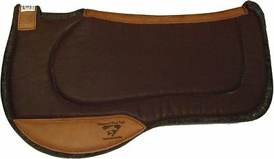 Diamond Wool Saddle Pad Endurance Fender Cross Breed Western Horse green.