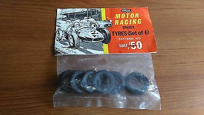 Auto Union Mercedes Set of 6 Front Tyres Airfix #5083/50 New Old Stock