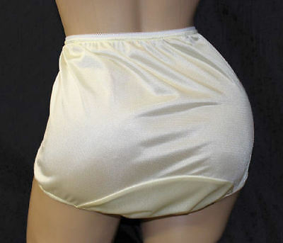 Sissy Yellow Tricot Panties with Large Mushroom Double Gusset Custom Made Style