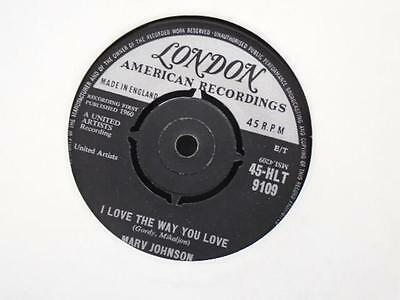 """MARV JOHNSON """" I LOVE THE WAY YOU LOVE """" Or.UK LONDON EX COND."""