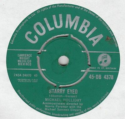 """Michael Holliday-Starry eyed/The steady game 7"""" Single Columbia 1959"""