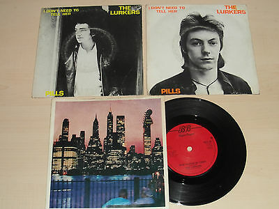 """The Lurkers X 3 Orig 7"""" Singles Punk Sex Pistols Clash Damned"""