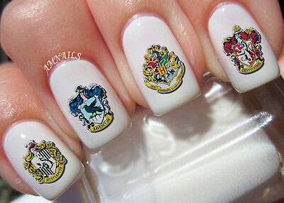Harry Potter Crests Nail Art Stickers Transfers Decals Set of 40
