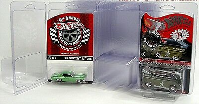 Lot 30 Diecast Car 1/64 scale Plastic Cases Hot Wheels Blister Boxes Clamshells