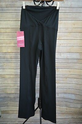 NWT Be Maternity - Black long legging yoga pants CROSSOVER panel, size XS