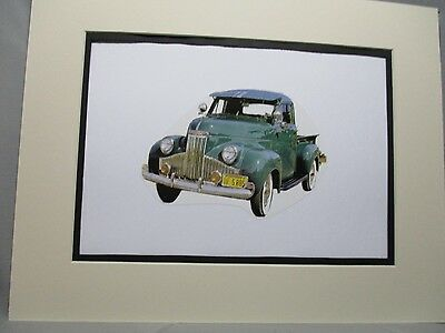 1947 Studebaker Pickup M5   artist art Auto Museum Full color  Illustrated