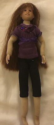 Only Hearts Club Doll Brown Crimped Hair Purple Shirt