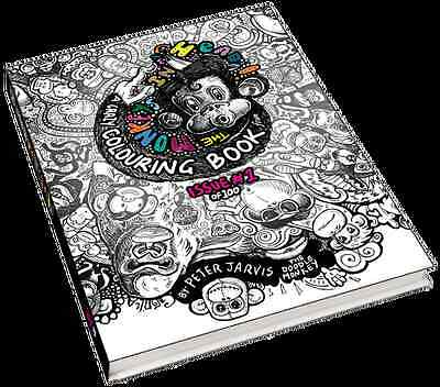 100 Page - Adult & Children crazy and strange colouring book. The doodle Monkey.
