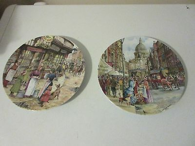 "Davenport ""Cries Of London"" Collectors Plates X 2.  FLOWER SELLER..THE MILKMAID"
