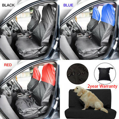 Universal Waterproof Pair Front Back Seat Cover Protector Car Heavy Duty Nylon