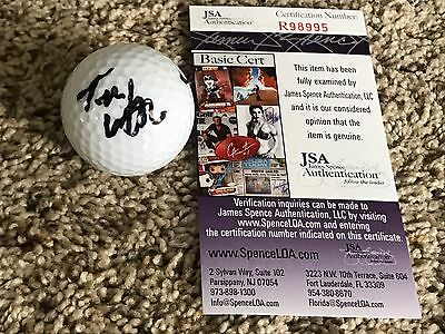 Tom Watson signed World Golf Hall of Fame golf ball Masters Augusta flag JSA COA
